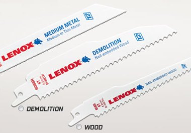 Lenox T2 Reciprocating Blade Samples