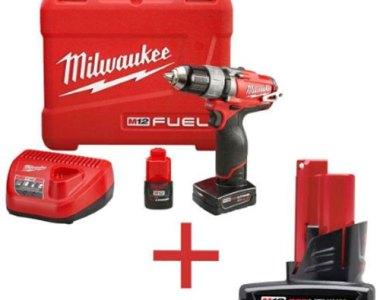 Milwaukee M12 Kit with Free Battery Promo