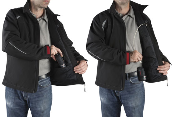 Bosch Heated Jacket USB Power Pack Placement