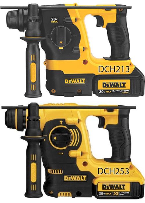 Dewalt Cordless Rotary Hammer DCH213 vs DCH253