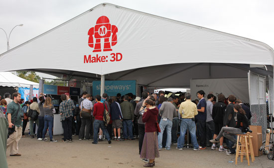 Maker Faire NYC 2012 3D Printing Booth