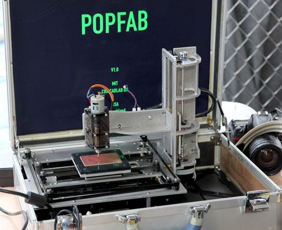 Maker Faire NYC 2012 PopFab Briefcase CNC