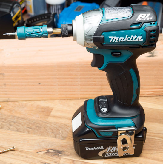 Makita Impact Driver with Impact Gold Bit and Screw