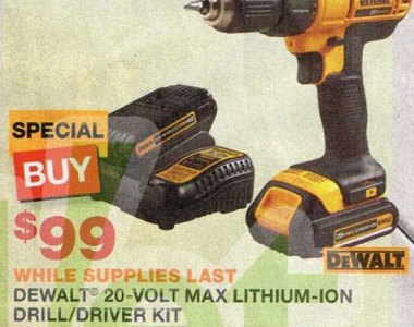 Dewalt 20V Max Compact Cordless Drill Driver Kit Black Friday Special