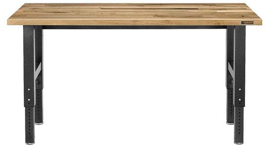 Gladiator 6-Foot Adjustable Height Maple Workbench