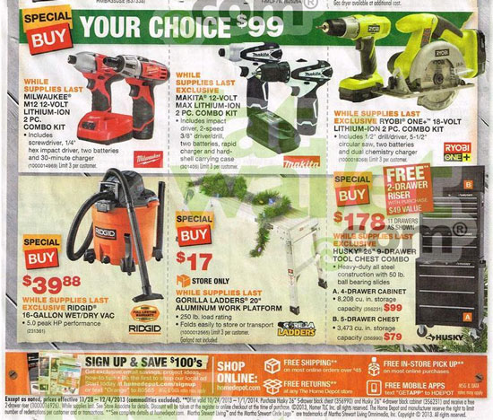 Home Depot Black Friday 2013 Tool Deals Page 1