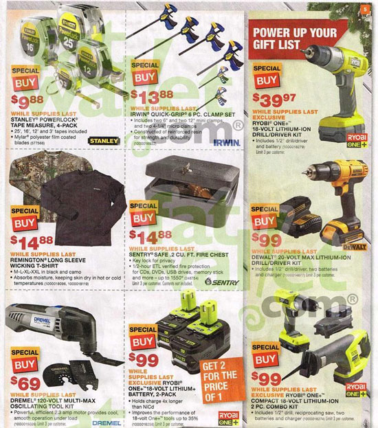 Home Depot Black Friday 2013 Tool Deals Page 4