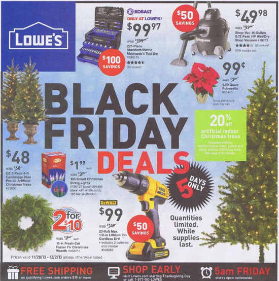 Lowes Black Friday 2013 Tool Deals Page 1