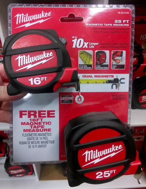 Milwaukee Tape Measure Free Bonus Combo Pack