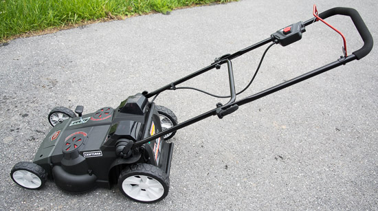 Craftsman 40v mower handlebar view