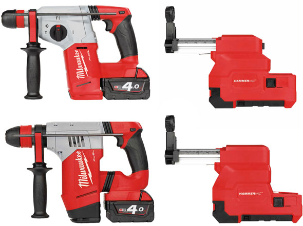 Milwaukee M18 Fuel SDS Rotary Hammers and Extractors