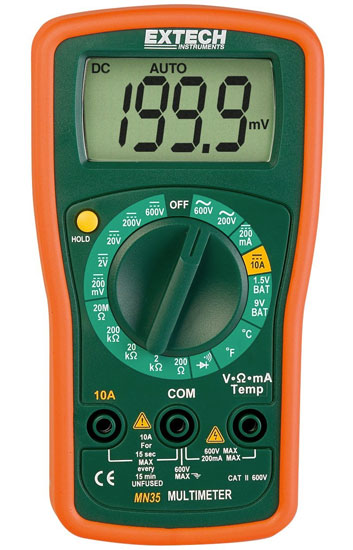 Extech MN35 Mini Multimeter