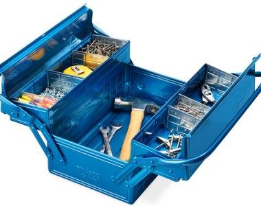 Trusco Cantilever Tool Box Open
