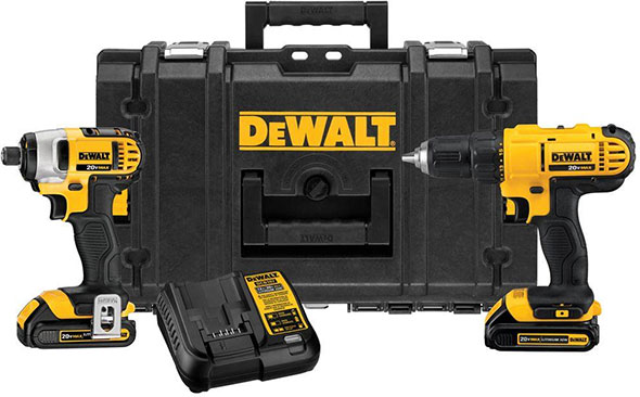 deal dewalt 20v max drill impact toughsystem tool box combo for 199