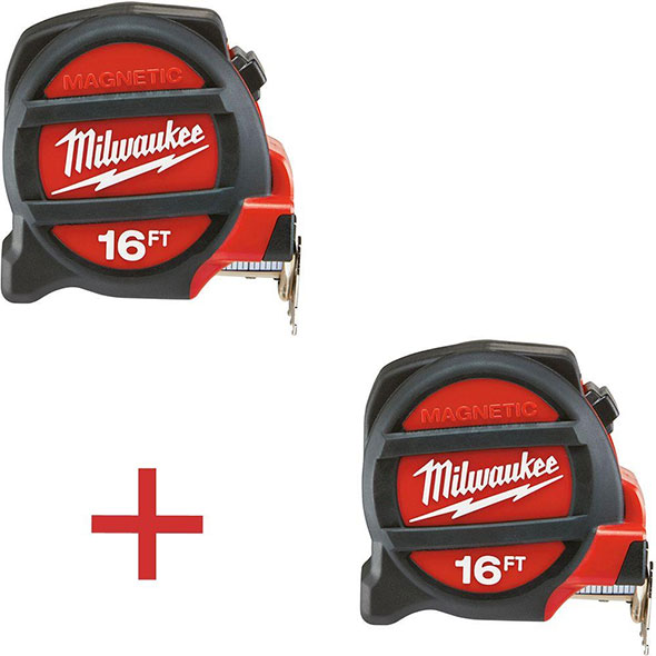 Home Depot Milwaukee Double 16 Foot Tape Measure Pack
