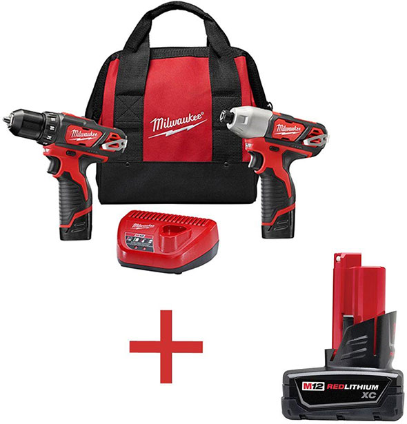 Home Depot Milwaukee Drill Impact and Free Battery Bundle