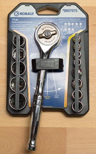 Kobalt Direct Drive Gearless Ratchet and Socket Set