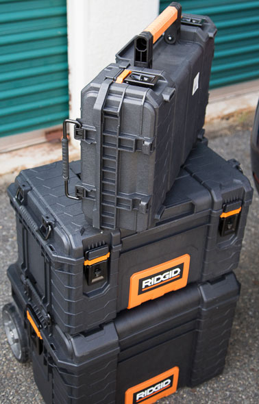 Ridgid Pro Tool Box Organizer Carrying Orientation