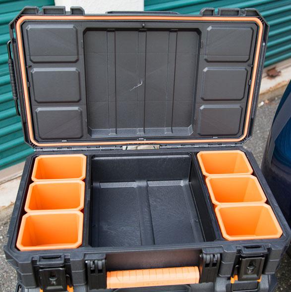 Ridgid Pro Tool Box Organizer Open