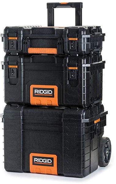 Ridgid Pro Tool Boxes Stacked