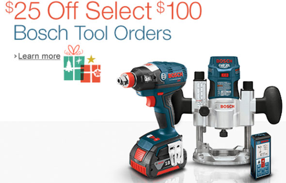 Bosch Holiday Discount Amazon 2014
