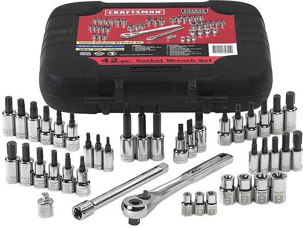 4 3 Socket 42 Craftsman Bit 8 Wrench Piece Set 1 And Bit Torx And Drive
