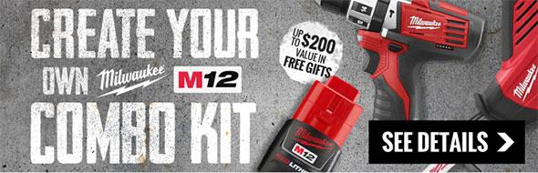 Create Your Own Milwaukee M12 Kit Promo