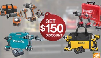 home depot cordless tools discount promo holiday 2014 - Home Depot Holiday