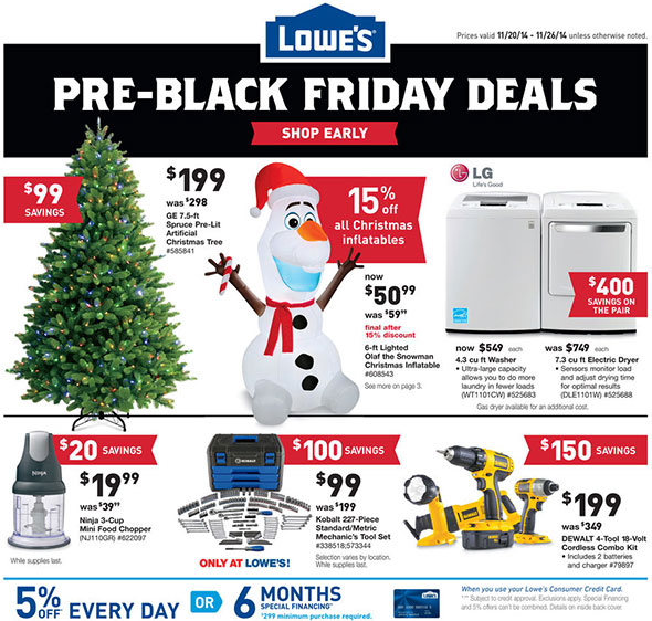 Lowes Pre-Black Friday 2014 Tool Deals Page 1