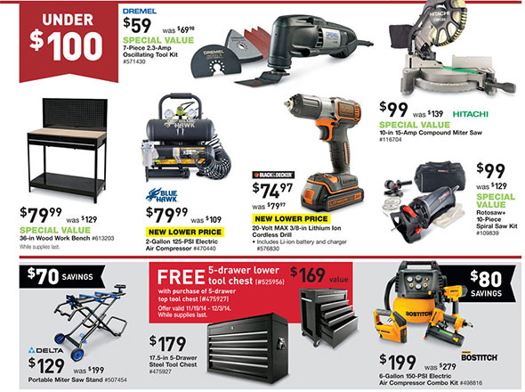Lowes Pre-Black Friday 2014 Tool Deals Page 3