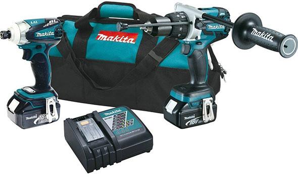 Makita 18V XT252M Drill and Impact Driver Combo Kit