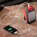 Milwaukee M12 Jobsite Speaker Charging Smartphone