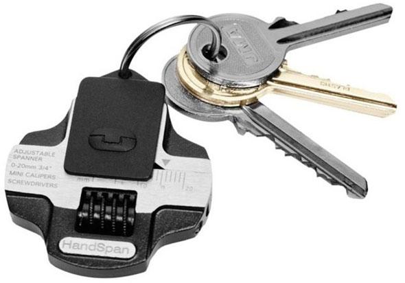 True Utilities HandSpan Wrench on a Keychain