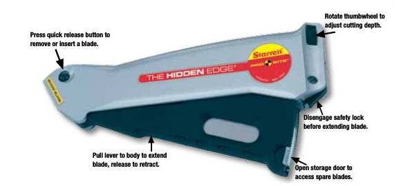 Features of Starrett Utility Knife