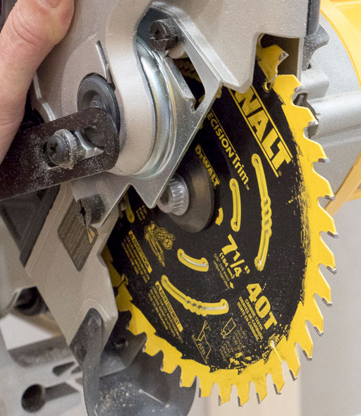 Dewalt Cordless Miter Saw with Precision Trim Blade