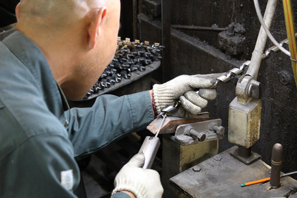 WoodOwl Drill Bit Production Step 6 Standard Ship Auger Head Sharpening