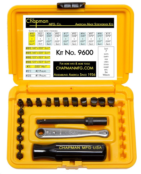 Chapman Mini Bit Ratchet Set