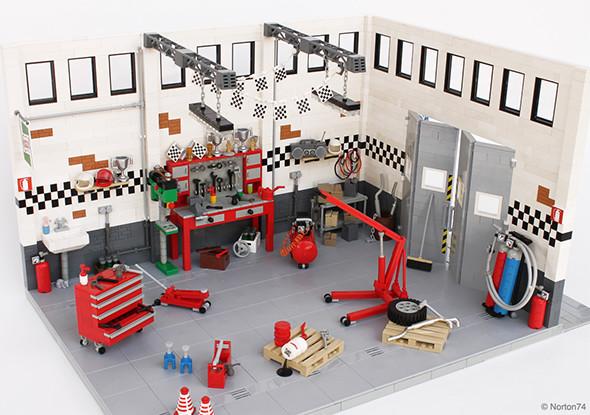 Norton74 Lego Garage Life