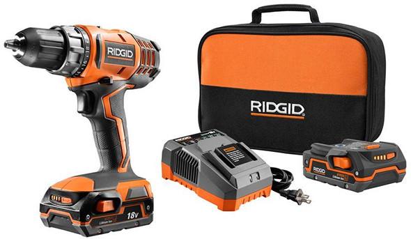 Ridgid R860052K 18V Cordless Drill Kit