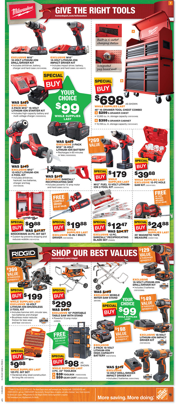 Home Depot Black Friday 2015 Tool Deals Page 3