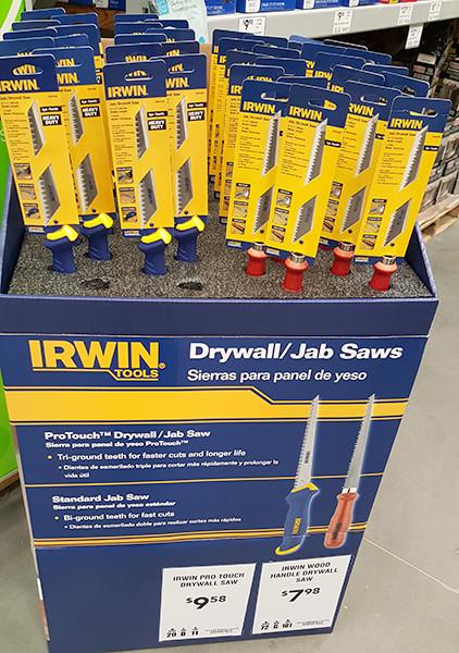 Irwin Drywall Jab Saw Lowes Holiday 2015