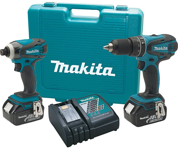 Makita XT211M 18V Hammer Drill and Impact Driver Kit