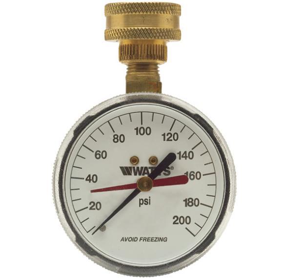Watts Water Pressure Test Gauge IWTG