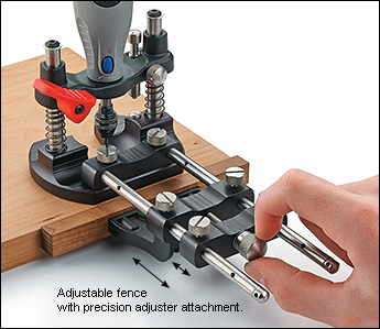 Veritas rotary tool router base precision adjuster