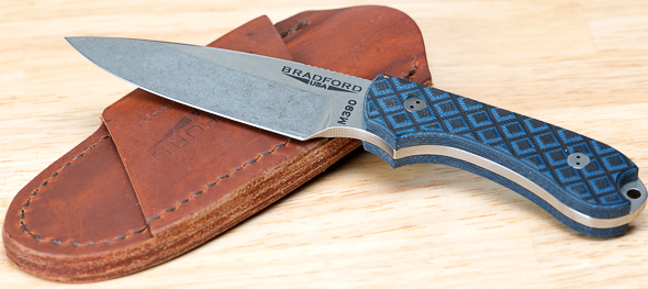 Bradford Guardian3 Fixed Blade Knife with Leather Sheath