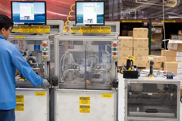 Dewalt USA Factory Power Tool Testing for Quality Control