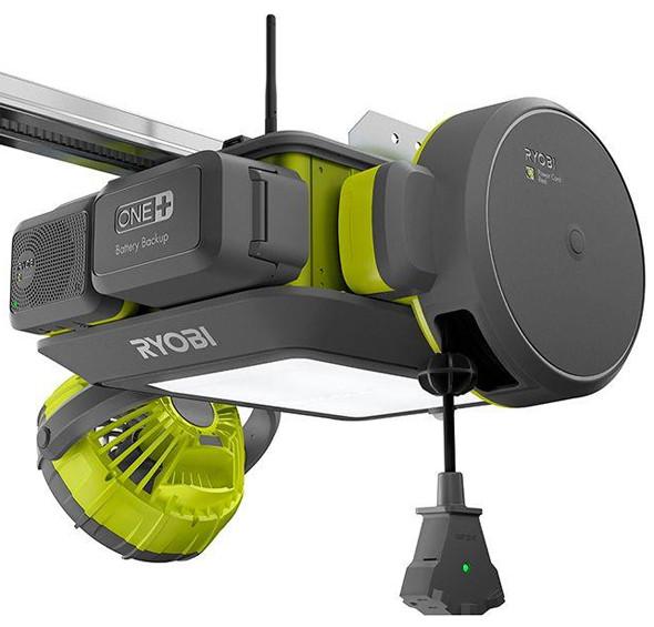 Ryobi Garage Door Opener with Fan Extension Cord Reel and Radio