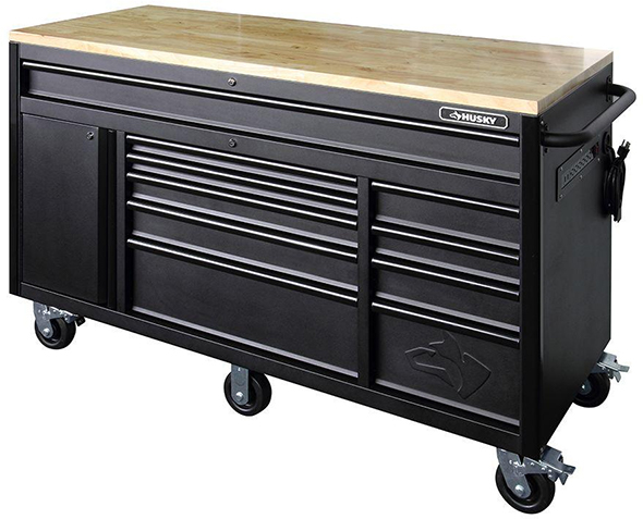 Husky 60 Inch 10-Drawer Mobile Workbench