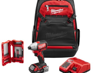 Milwaukee M18 Brushless Impact Driver with Backpack and Bit Set