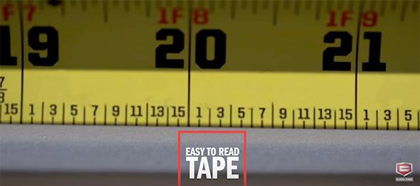 Craftsman Sidewinder Tape Measure Fractional Markings Removed